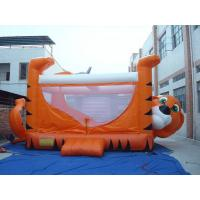 Orange 0.55mm PVC Tarpaulin Inflatable Sports Games , Kids Inflatable Bouncer Manufactures
