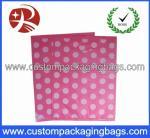 Pink Dot Printed Die Cut Handle Plastic Bags Waterproof For Supermarket