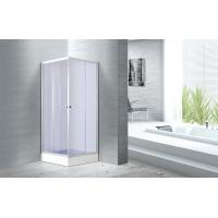 Quality 4mm Smoke Glass Convenient Square Bathroom Glass Shower Enclosures Free Standing for sale