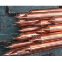 18mm Good conductivity Copper Coated Ground Rod , house earth rods Manufactures