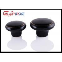 Black Kitchen Cupboard Ceramic Handles And Knobs 32mm Dia Round Porcelain Dresser Pulls Manufactures