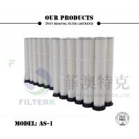 PTFE PU Molded Pleated Filter Bags , 153 * 2000mm Dust Extractor Filter Bags Manufactures