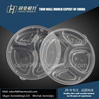 Quality PP transparent three or four compartment lunch box mould and lid mould for sale