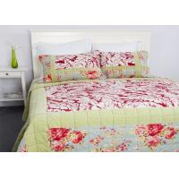 Geometric Quilted Patchwork Bedspreads 3 Pcs Cotton Velvet Embroidered Manufactures