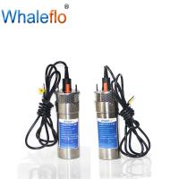 China Whaleflo 24V dc solar water pump dc solar submersible pump with lift rate 100m and flow rate 12L/M for irrigation on sale