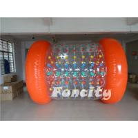 2.8m Length Inflatable Rolling Ball , Roll Inside Inflatable Ball For Water Park Manufactures