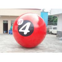 Red 0.8mm PVC Inflatable Walk On Water Ball With Printing 2m Diameter Manufactures