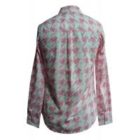 Quality Semi formal Printed female / ladies blouses and shirts with two pockets for sale