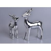 Silver Mercury Animal Ceramic Mantle Shelf Table Centerpiece Deer Decor Manufactures