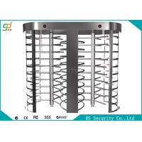Two Lanes Full Height Turnstiles With Biometric Fingerprint Gate Manufactures