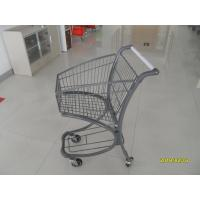 40L Steel Tube Airport Supermarket Shopping Trolley With Advertisement Board Manufactures