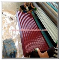 China Colored Steel Roofing Sheet, Corrugated Profile Zinc Iron Roof Cladding Panel, Metal Building Material on sale