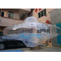 Quality Transparent UFO Custom Advertising Balloons , Digital Printing Sky Advertising for sale