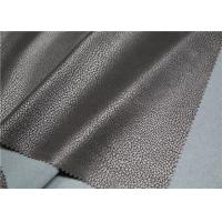 Imitation Flocking Polyurethane Leather Fabric 0.7 Mm Thickness For Jacket