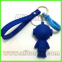 Buy cheap Custom pvc silicone cartoon cute animal 3d figure for bags keychains phone from wholesalers