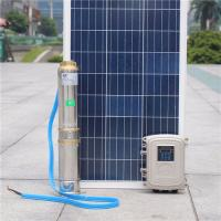 China 1.1kw  1.5hp dc submersible pond pump helical screw pump  solar water pump with solar water pump controller on sale