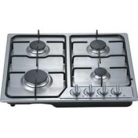 Built In 60CM 4 Burner Gas Hob Cooktop With Stainless Steel Panel Manufactures