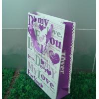 157gms Wedding Paper Gift Bag For Clothing Packaging With Ribbon Handle Manufactures