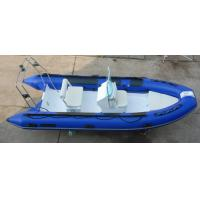 Rigid Inflatable RIB Boats 1.2mm PVC Tube In Blue Color Max 30HP Motor