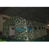 Wind Resistant Camouflage Inflatable Tents Large For Military / Army SGS Approval Manufactures