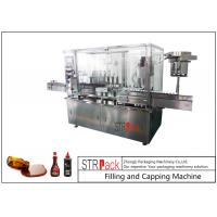 8 Head Syrup Automatic Filling And Capping Machine For Pharmaceutical Production Line Manufactures
