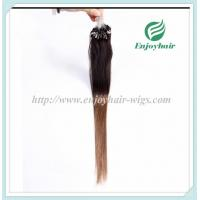 """Micro ring loop hair extensions 16""""-26""""L brazilian remy hair T2/8# color hair Manufactures"""