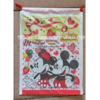 Hot Selling Colourful Plastic Drawstring Carrier Bags For Apparel / Garments / Clothing Manufactures