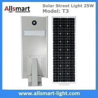 25W Solar Street Light Outdoor All in One Integrated Solar LED Street Light Solar Driveway Lights with / without Pole Manufactures