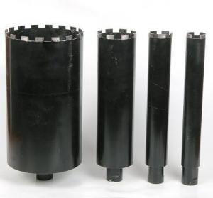 Black Wet Diamond Core Drill Bit , Diamond Hole Saw For Reinforcement Concrete Manufactures