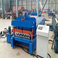 PLC Control Tile Trapezoidal Roll Forming Machine With Custom Color