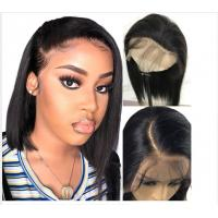 China 10 Inch Glueless Straight Full Lace Human Hair Wigs With Baby Hair Short on sale