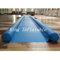 Commercial Blue City Big Inflatable Slip N Slide With Single Lane 50m Long Durable Manufactures