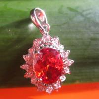 China sterling silver garnet pendant(FP033) on sale