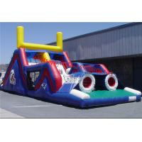 Inflatable Obstacle Slides For Football , Commercial  Adult Inflatable Obstacle Course For Sale Manufactures