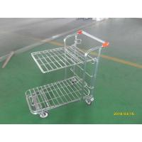 Retail Store supermarket Warehouse Cargo Trolley with 5 inch swivel flat TPE casters Manufactures