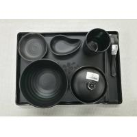 Imitation Porcelain Dinnerware Sets Japanese And Korea Series Tableware Black Melamine Manufactures