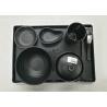Buy cheap Imitation Porcelain Dinnerware Sets Japanese And Korea Series Tableware Black Melamine from wholesalers