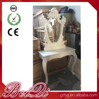Princess Salon Mirror for Barber Shop Furnture Wood Mirror Table Luxury Manufactures