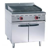 Quality Stainless Steel 380V Gas Lava Rock Grill With Cabinet 12KW For Kitchen for sale