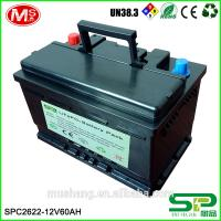 Top power rechargeable lithium ion battery pack 12v 60Ah replace lead acid for motor cycle Manufactures