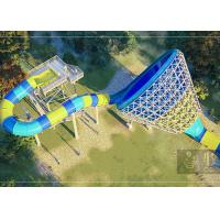 90 KW Power Commercial Pool Water Slide 4 Riders Load 1 Year Warranty Manufactures