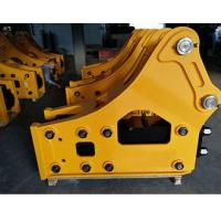 Road Construction Excavator Drill Attachment Yellow Color Strong Bearing Capacity Manufactures