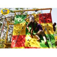 Commercial Childrens Rock Climbing Wall , Fiberglass Kids Indoor Climbing Wall Manufactures