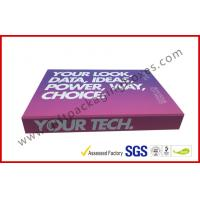 China Soft Touch Lamination Rubber Finished Cardboard Gift Boxes Hi End USB Recyclable Display on sale