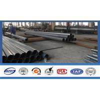 Electric Power Transmission Steel Utility Poles Custom Color For 3mm Thickness Manufactures
