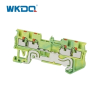 Din Rail Convenient Mounted Electrical Terminal Block Connectors With Long Life Manufactures