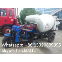 high quality and best price 1.5cbm 3 wheels concrete mixer truck for sale,factory direct sale mini truck mounted mixer Manufactures