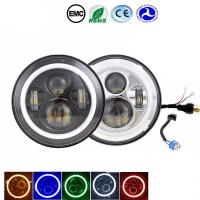 Amber / Blue / Halo Led Headlights 6000-6500K 70W Jeep Wrangler Angel Eyes Headlights Manufactures