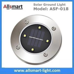 Solar Ground Lights Warm 4 LED Solar Inground Spotlights White Solar Pathway Stake Lights Outdoor Solar Landscape Light Manufactures