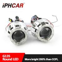 IPHCAR Led Projector Lens Light Angel Eyes High and Low Beam Projector Lens Lamp Manufactures